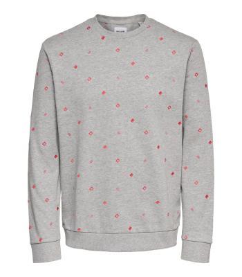 Only & Sons Heren sweater Grijs