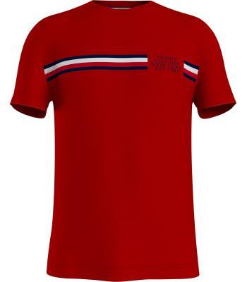Tommy Hilfiger Heren t-shirt Rood korte mouw