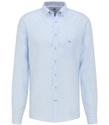 Fynch-Hatton Heren hemd Blauw lange mouw
