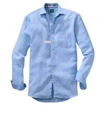 Olymp Heren hemd Blauw lange mouw