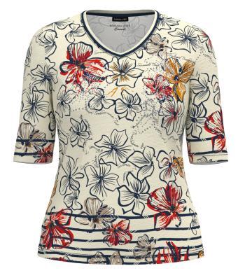 Lebek Dames t-shirt Ecru korte mouw