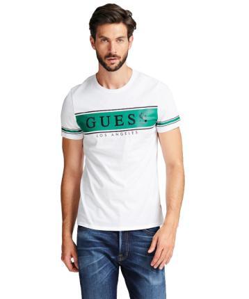 GUESS Heren t-shirt Wit korte mouw