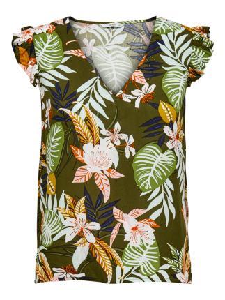 ONLY Dames hemdsbloes Groen korte mouw