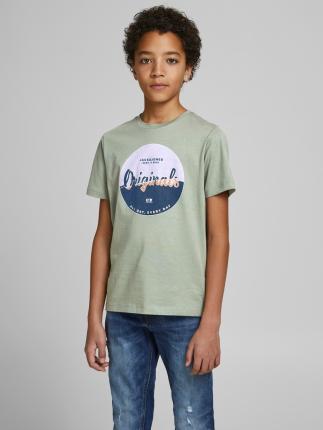 Jack & Jones Junior Kids t-shirt Groen korte mouw