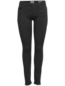 ONLY Dames broek Zwart 5-pocket