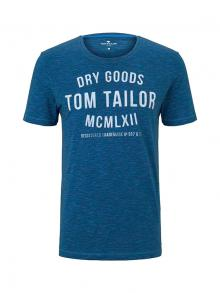 Tom Tailor Heren t-shirt Blauw korte mouw