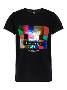 Only Kids Kids t-shirt Zwart korte mouw