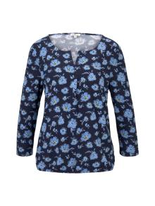 Tom Tailor Dames t-shirt Blauw 3/4-mouw