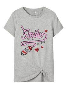 Name it Kids t-shirt Grijs korte mouw