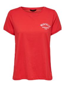 ONLY Dames t-shirt Rood korte mouw
