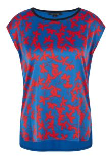 Comma by s.Oliver Dames t-shirt Blauw zonder mouw