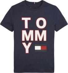 Tommy Hilfiger Kids t-shirt Blauw korte mouw