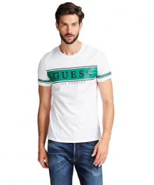 GUESS Heren t-shirt Wit korte mouw