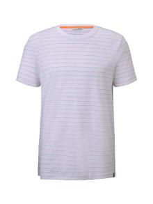 Tom Tailor Heren t-shirt Wit korte mouw