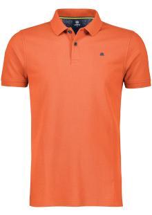 Lerros Heren Polo Oranje korte mouw