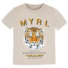 Mayoral Kids t-shirt Beige korte mouw