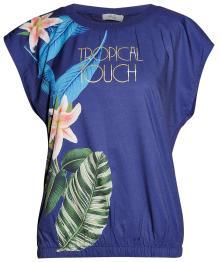 Vila Joy Dames t-shirt Blauw korte mouw