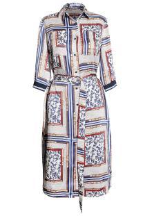 Vila Joy Dames jurk Blauw 3/4-mouw