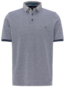 Fynch-Hatton Heren Polo Blauw korte mouw
