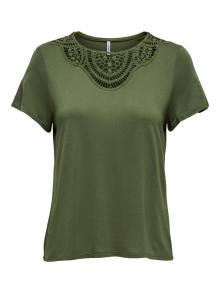 ONLY Dames t-shirt Groen korte mouw