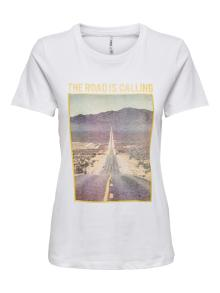 ONLY Dames t-shirt Wit korte mouw