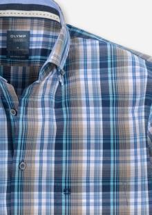 Olymp Heren hemd Blauw korte mouw