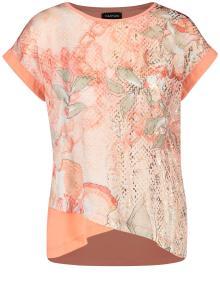 Taifun Dames t-shirt Roze korte mouw