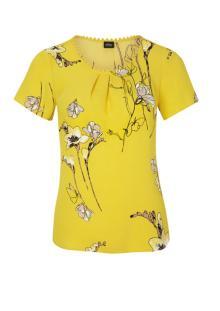 S.Oliver Premium Dames hemdsbloes Geel korte mouw