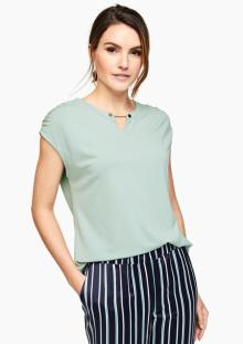 S.Oliver Premium Dames t-shirt Groen zonder mouw