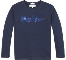 Tommy Hilfiger Kids t-shirt Blauw lange mouw