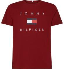 Tommy Hilfiger Heren t-shirt Bordeaux korte mouw