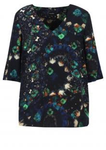 Mayerline Dames hemdsbloes Blauw 3/4-mouw