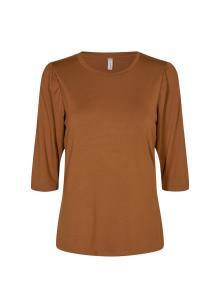 Soya Concept Dames t-shirt Bruin korte mouw