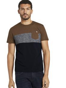 Tom Tailor Heren t-shirt Blauw korte mouw