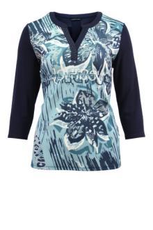 Lebek Dames t-shirt Blauw 3/4-mouw