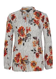 S.Oliver Premium Dames hemdsbloes Wit lange mouw