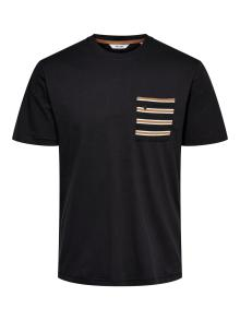 Only & Sons Heren t-shirt Zwart korte mouw