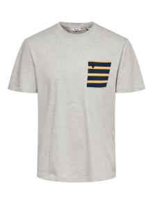 Only & Sons Heren t-shirt Grijs korte mouw