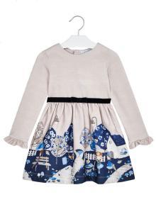 Mayoral Kids jurk Beige lange mouw