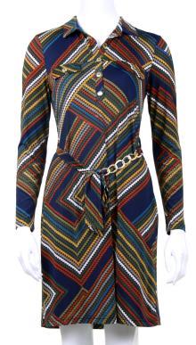 Batida Dames jurk Blauw lange mouw