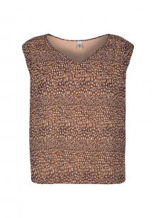 Soya Concept Dames hemdsbloes Bruin zonder mouw