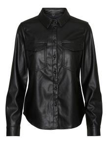 Vero Moda Dames hemdsbloes Zwart lange mouw