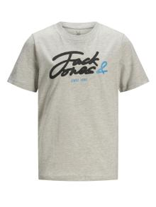 Jack & Jones Junior Kids t-shirt Grijs korte mouw