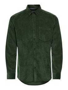 Only & Sons Heren hemd Groen lange mouw