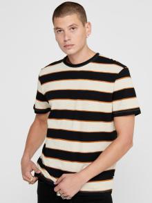 Only & Sons Heren t-shirt Zwart korte mouw