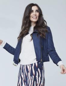 K-design Dames blouson Blauw