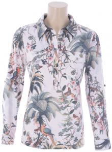 K-design Dames hemdsbloes Ecru lange mouw