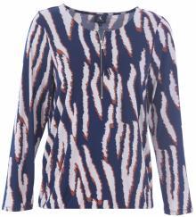K-design Dames t-shirt Blauw lange mouw