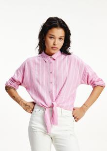 Tommy Hilfiger Dames hemdsbloes Roze lange mouw