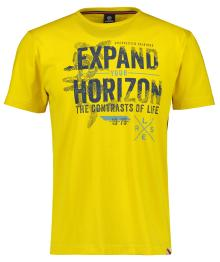Lerros Heren t-shirt Geel korte mouw